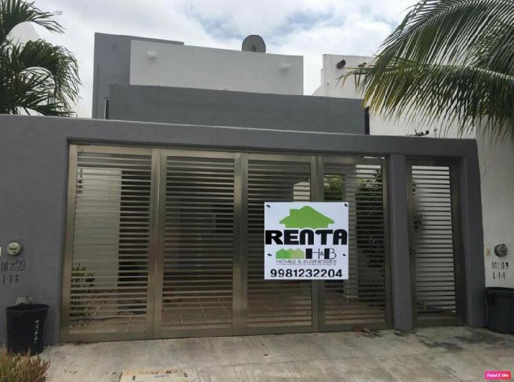 Casa en Renta 3 Recamaras 2 Baños en Isla Azul Cancun