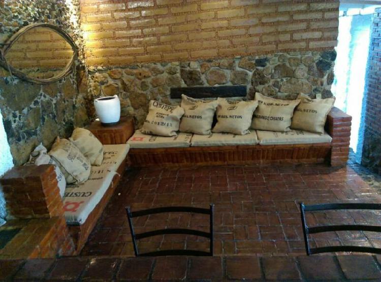 Casa estilo cabaña en renta en Ocotepec