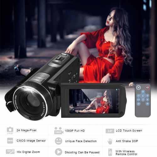 Cámara Vídeo Digital 1080p Completo Hd 16 Videocámara Dig