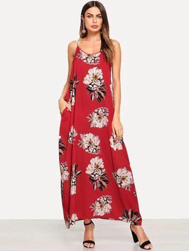 Shein Moda Asiatica Maxi Vestido Flores Casual Playa