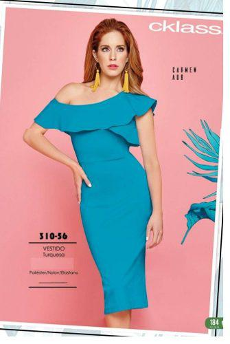 08e858955d Vestido cklass azul turqueza 310-56 primavera verano 2018