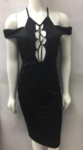 Vestido De Algodón Casual Moda Color Negro 99 Pesos Oferta