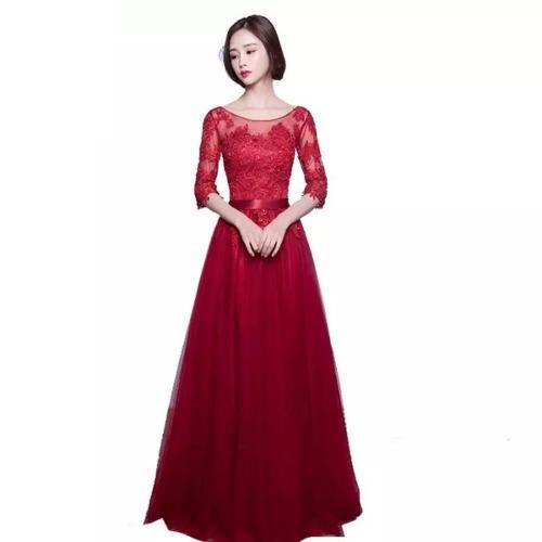 Vestido Fiesta Rosa Rojo Y Azul Envio Gratis E-365879