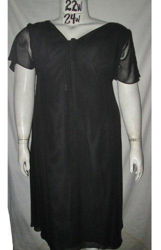 Vestido Negro De Gala Cocktail Talla 3x (42/44) Jj¨s House