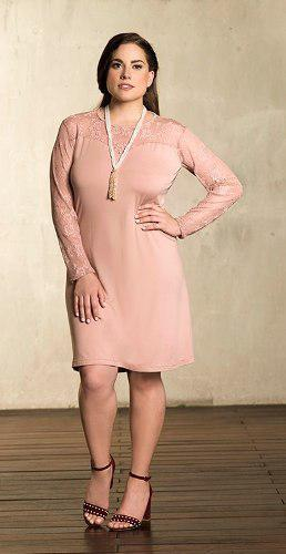 Vestido Rinna Bruni Palo De Rosa 70203..outlet/saldos Mchn
