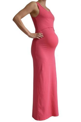Vestido Venecia Coral Liso. Maternidad Y Lactancia