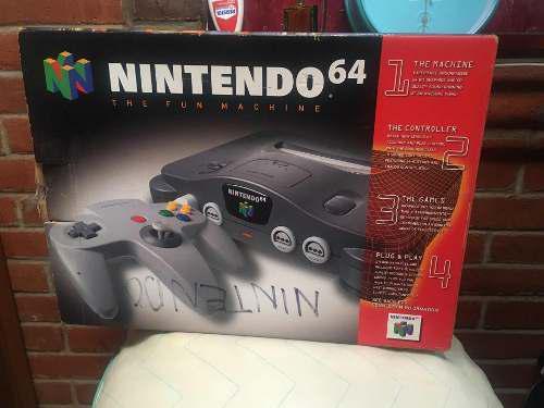 Caja De Nintendo 64 Buen Estado N64 Solo Caja Original