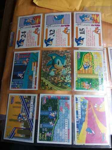 Coleccion De Tarjetas De Sonic Sega