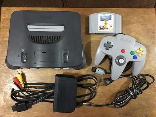 Consola Nintendo 64 Con 1 Control Y 1 Juego En Buen Estado