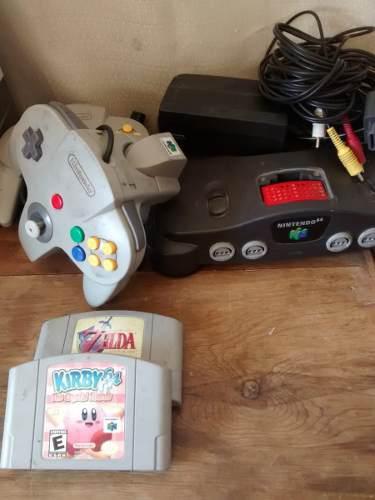 Nintendo 64 Con 2 Juegos