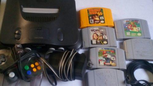 Nintendo 64 Con 7 Juegos Y 1 Mando A $2000