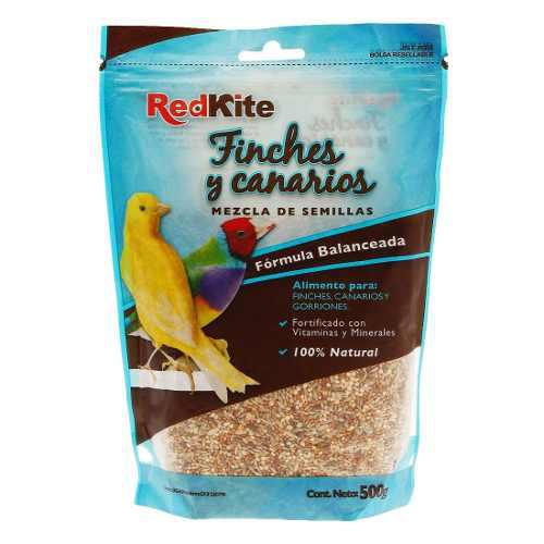 Alimento Para Aves Varias Semillas Canarios Redkite 500 Gr
