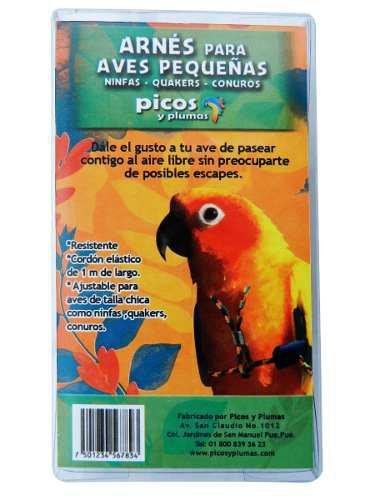 Arnés (pechera) Para Aves Pequeñas Picos Y Plumas
