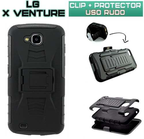 Funda Clip Protector Case Cover Uso Rudo Para Lg X Venture