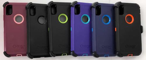 Funda Iphone Xs Max Xr Tipo Otterbox Uso Rudo Tipo Defender