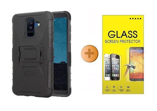 Funda + Mica Protector Rudo Galaxy A3 A5 A6 A7 A8 2017 Plus
