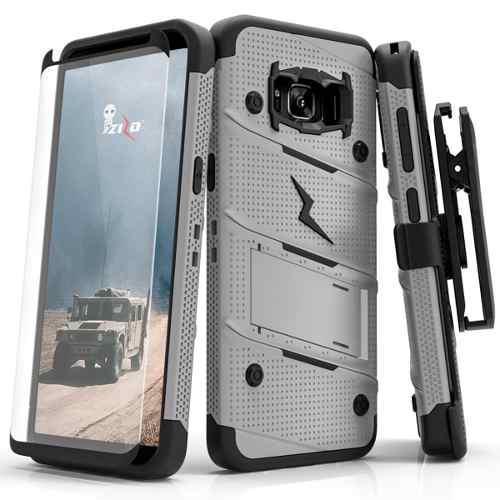 Funda Uso Rudo Zizo Samsung S8 Plus C/clip+cristal Curvo