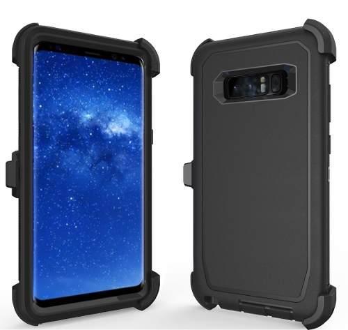 Funda Y Clip Defender Uso Rudo Para Galaxy Note 8 C/envio