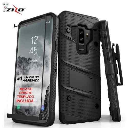 Funda Zizo Bolt Samsung S9 Plus Negra Con Clip Y Mica Mlf
