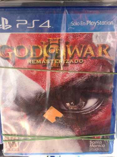 Juego God Of War 3 Remasterizado Ps4