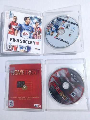 Remato 2 Juegos De Play Ps3 Originales: Home Front Y Fifa 10
