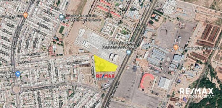 Terreno Comercial en Venta en Hermosillo frente a la EXPOGAN