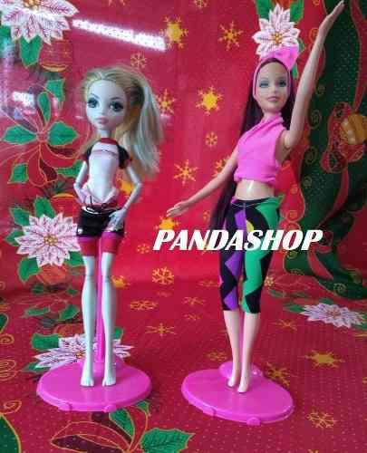 Bases Barbie Monster Ever After High Rosa Paquete De 5
