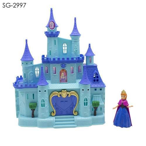 Castillo Tipo Frozen Luz Y Sonido Grande Para Niñas