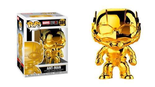Funko Pop Marvel Ant Man Cromado Gold Dorado (1)