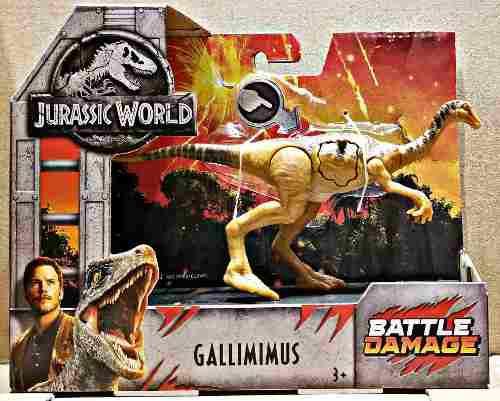 Gallimimus Battle Damage Jurassic World Mattel 2018