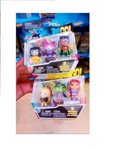 Jovenes Titanes Pack De 6 Figuras Robin Chico Bestia