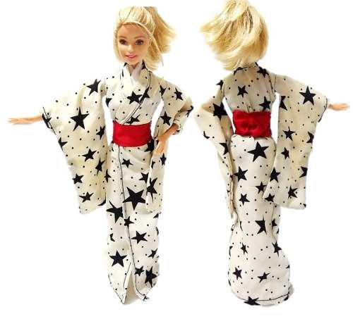 Kimono Para Muñecas Barbie Monster High Blyte Yucata Geisha