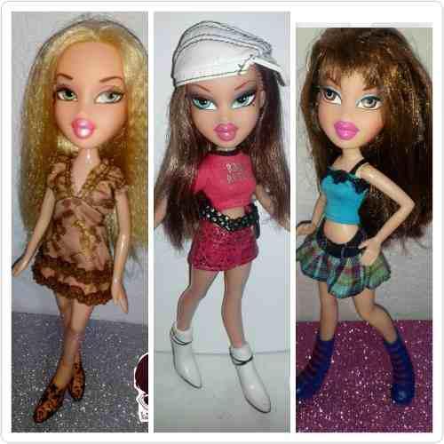 Lote 3 Muñecas Bratz Originales: Cloe, Kiani Y Yasmin