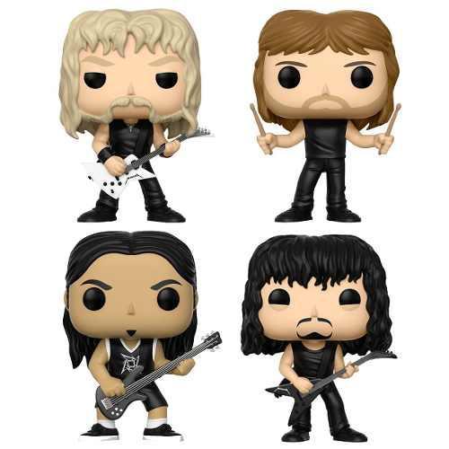 Metallica Funko Pop Combo 4 Personajes Con Envío Incluido