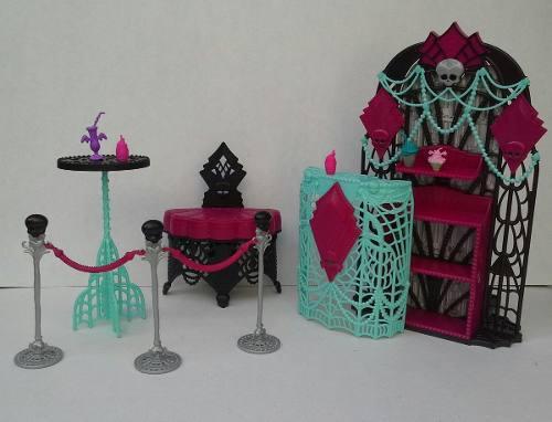 Monster High Set De Mobiliario Y Accesorios Spots C/u