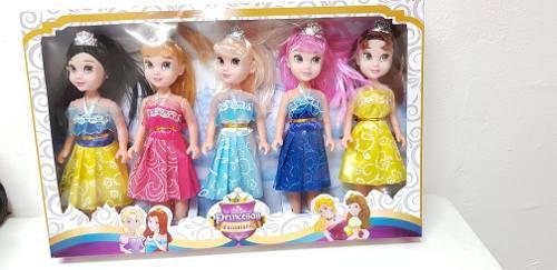 Muñecas Princesas Bebes 25 Cm De Alto 5 Pzas Envio Gratis
