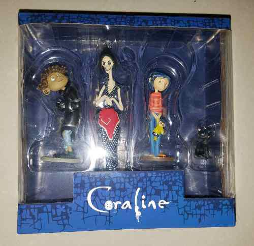 Nuevo Set 4 Piezas Coraline Muñeca Neca Jack Disney Hot Sh