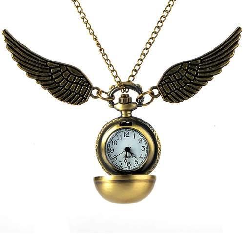 Reloj De Bolsillo Snitch Harry Potter + Snitch + Bolsita