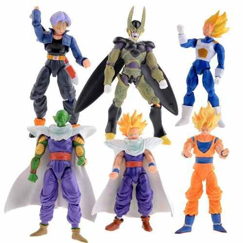 Set De 6 Figuras De Dragon Ball Z, Envío Gratis