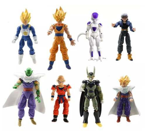 Set De 8 Piezas Dragon Ball Z, Goku, Vegeta, Envio Gratis