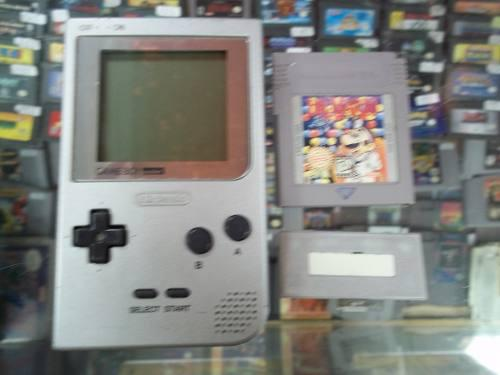 Consola Nintendo Game Boy Pocket Gris Plata Gb Pocket