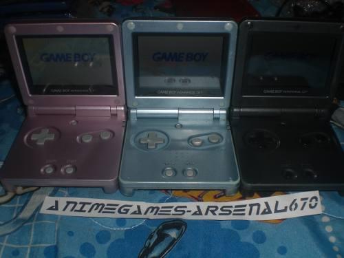 Game Boy Advance Sp Doble Luz Cargador 3 Juegos Mario Gba Sp