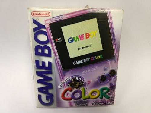 Game Boy Color Consola Con Caja Completito Garantizado!