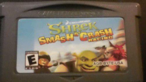 Video Juego Game Boy Shrek (Smashn' Crash Racing) Funciona