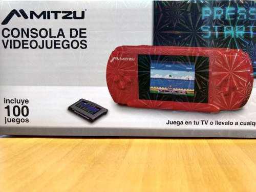 Consola Portátil Videojuego 100 Jgos Retro Mitzu Mvg-9030rd