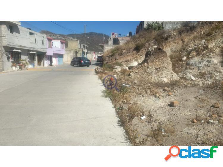 Terreno en Venta Col Río de la Soledad Pachuca Hgo