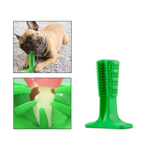 1 Unid De Silicona Bristly Pet Dog Cepillo De Dientes