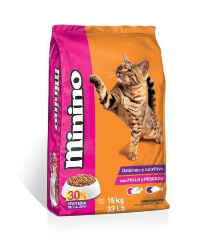 Alimento Para Gato Minino Pollo Y Pescado 15 Kg