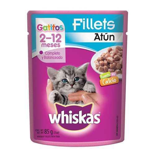 Alimento Para Gato Whiskas Fillets Atún Gatito 85 Gr