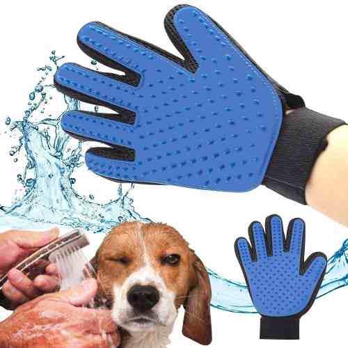 Guante Cepillo Mascotas Perros Y Gatos. Quita Exceso De Pelo